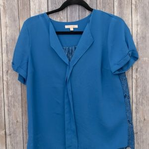 Stitch Fix Skies Are Blue Lace Back Blouse Small